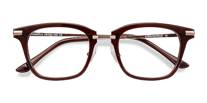 Burgundy Candela -  Acetate, Metal Eyeglasses