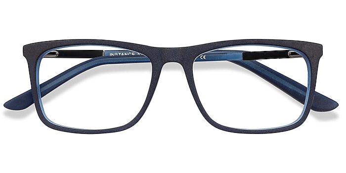 Blue Instance -  Lightweight Acetate, Metal Eyeglasses