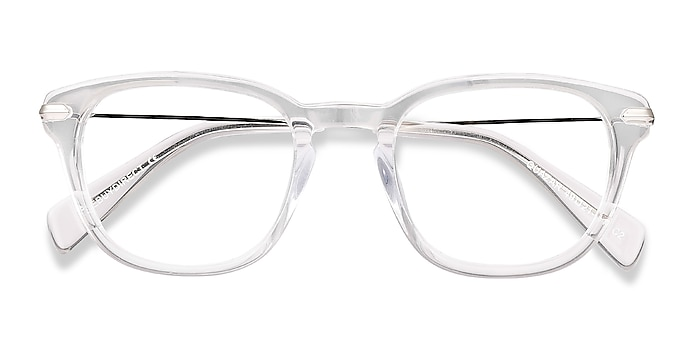 Clear Quazar -  Acetate, Metal Eyeglasses