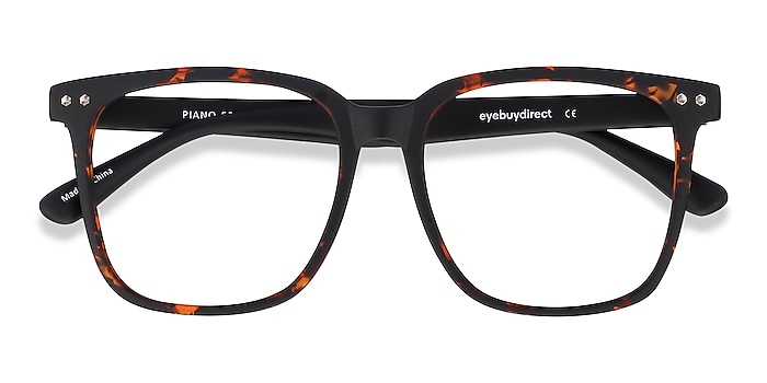 Tortoise Piano -  Geek Plastic Eyeglasses