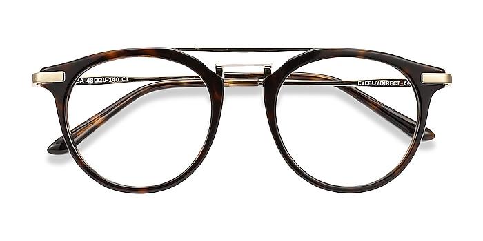 Tortoise Alba -  Vintage Acetate, Metal Eyeglasses