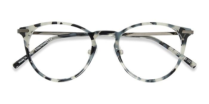 Ivory Tortoise Iris -  Lightweight Acetate, Metal Eyeglasses