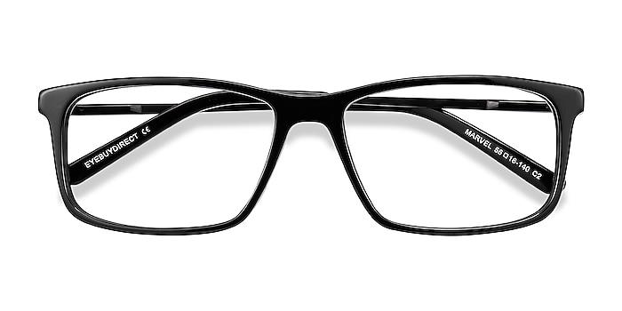 Black Marvel -  Acetate, Metal Eyeglasses