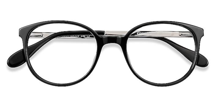 Black Lucy -  Acetate, Metal Eyeglasses