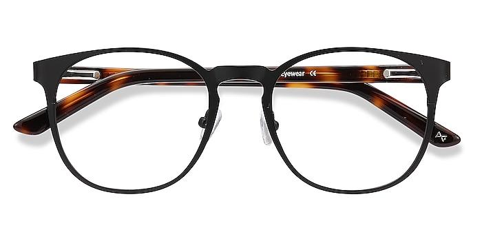 Black Resonance -  Vintage Acetate, Metal Eyeglasses