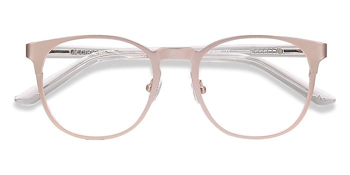 Rose Gold Resonance -  Fashion Acetate, Metal Eyeglasses