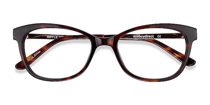 Tortoise Ripple -  Vintage Acetate, Metal Eyeglasses