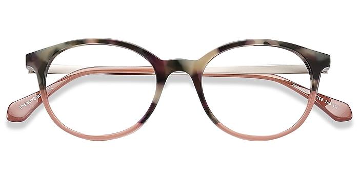 Tortoise Martini -  Lightweight Acetate, Metal Eyeglasses