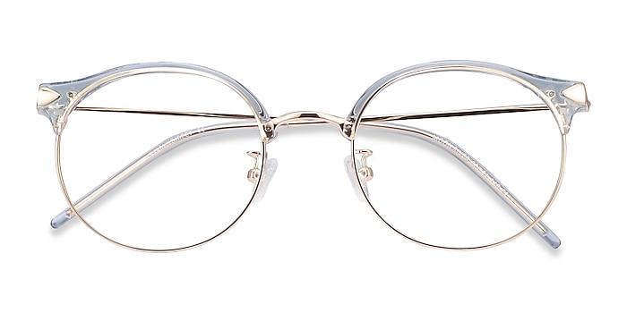 Clear Blue Moon River -  Fashion Plastic, Metal Eyeglasses