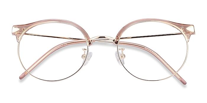 Clear Pink Moon River -  Fashion Plastic, Metal Eyeglasses