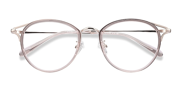 Pink Dazzle -  Lightweight Acetate, Metal Eyeglasses