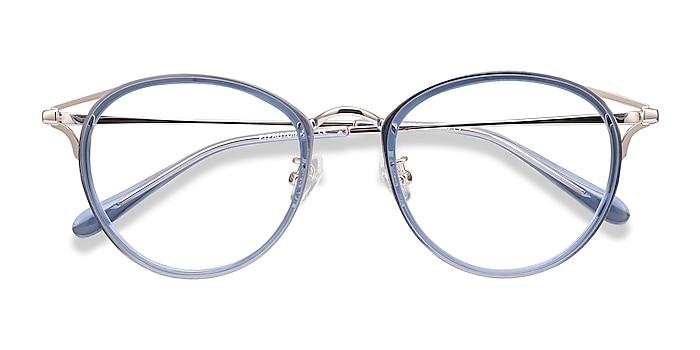 Blue Dazzle -  Lightweight Acetate, Metal Eyeglasses