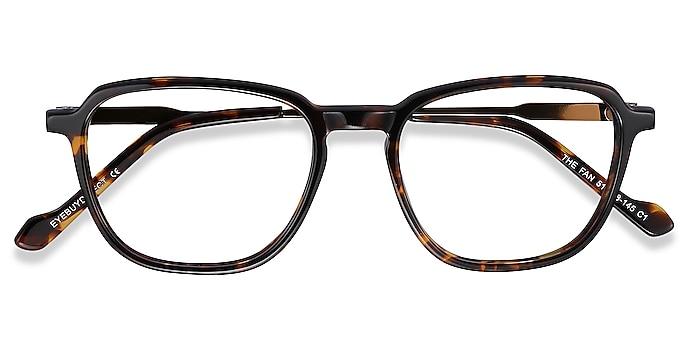 Tortoise The Fan -  Lightweight Acetate, Metal Eyeglasses