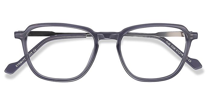 Gray The Fan -  Lightweight Acetate, Metal Eyeglasses