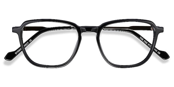 Black The Fan -  Lightweight Acetate, Metal Eyeglasses