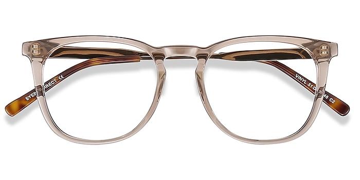 Clear Brown Vinyl -  Geek Acetate, Metal Eyeglasses