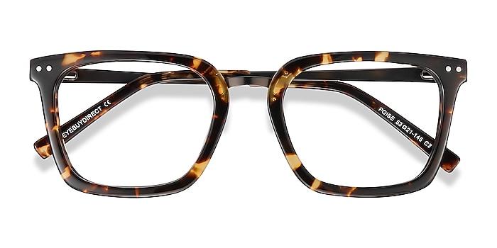 Tortoise Poise -  Vintage Acetate, Metal Eyeglasses
