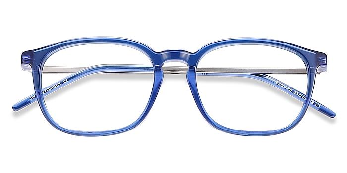 Blue Esquire -  Lightweight Acetate, Metal Eyeglasses