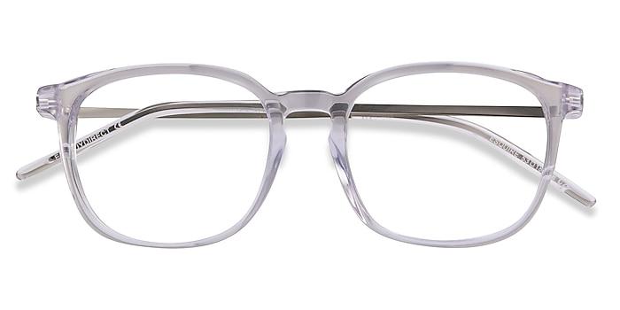 Clear Esquire -  Lightweight Acetate, Metal Eyeglasses