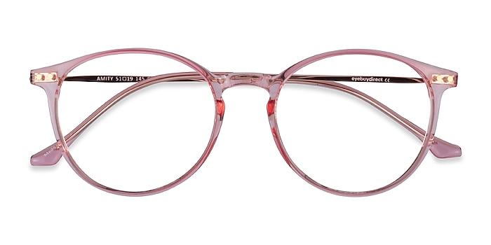 Rose Gold Amity -  Lightweight Plastic, Metal Eyeglasses