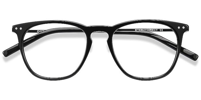 Black Distance -  Lightweight Acetate, Metal Eyeglasses