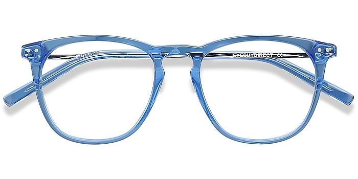 Blue Distance -  Lightweight Acetate, Metal Eyeglasses