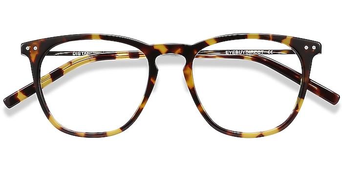 Tortoise Distance -  Lightweight Acetate, Metal Eyeglasses