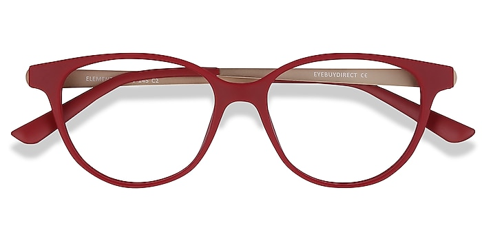 Red Element -  Vintage Plastic, Metal Eyeglasses