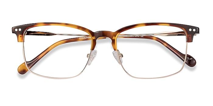 Tortoise Explorer -  Vintage Acetate, Metal Eyeglasses