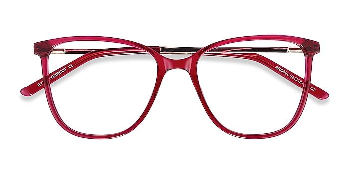 Raspberry Aroma -  Fashion Acetate, Metal Eyeglasses