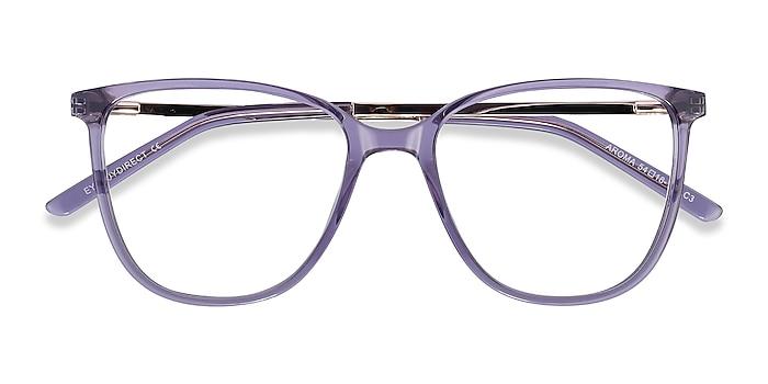 Purple Aroma -  Fashion Acetate, Metal Eyeglasses