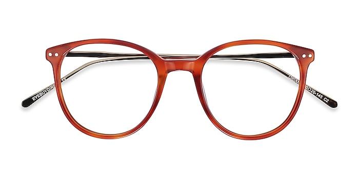 Orange Oriana -  Coloré Acetate, Metal Lunettes de vue