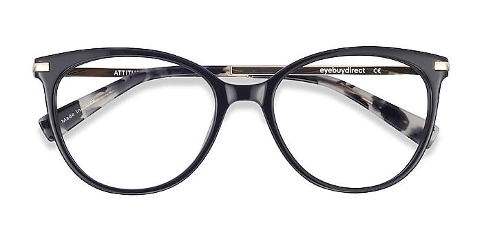 Black Attitude -  Fashion Acetate, Metal Eyeglasses