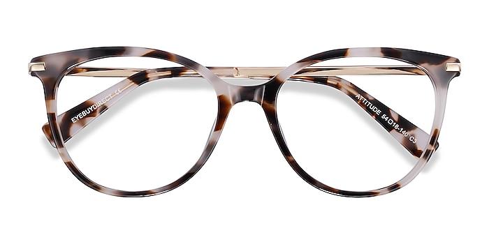 Ivory Tortoise Attitude -  Fashion Acetate, Metal Eyeglasses