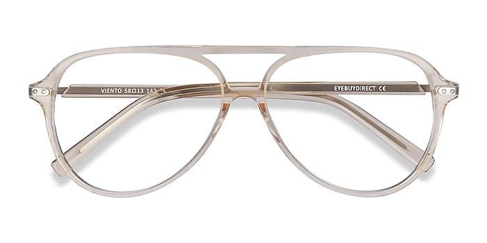 Clear Yellow Viento -  Vintage Acetate Eyeglasses