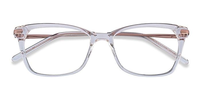 Clear Forward -  Classic Acetate, Metal Eyeglasses
