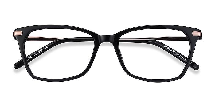 Black Forward -  Classic Acetate, Metal Eyeglasses
