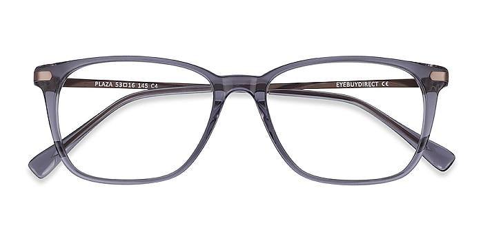 Gray Plaza -  Lightweight Acetate, Metal Eyeglasses
