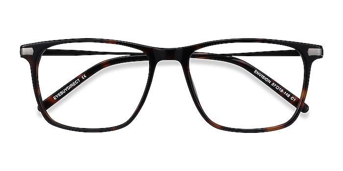 Tortoise Envision -  Lightweight Acetate, Metal Eyeglasses