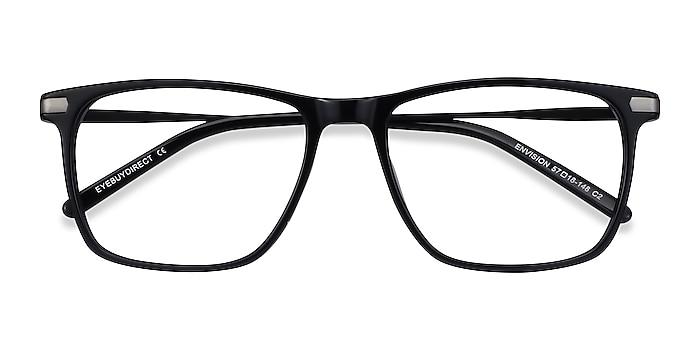 Black Envision -  Lightweight Acetate, Metal Eyeglasses