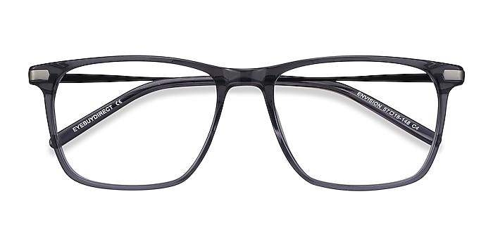 Gray Envision -  Lightweight Acetate, Metal Eyeglasses