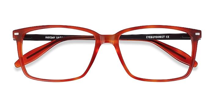 Blood Orange Hayday -  Lightweight Acetate, Metal Eyeglasses