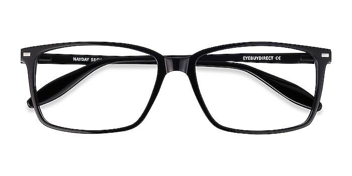 Black Hayday -  Lightweight Acetate, Metal Eyeglasses