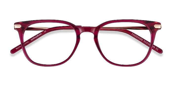Raspberry Therefore -  Classic Acetate, Metal Eyeglasses