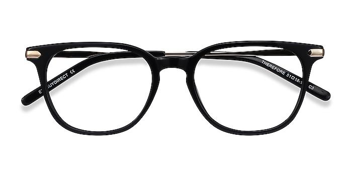 Black Therefore -  Acetate, Metal Eyeglasses