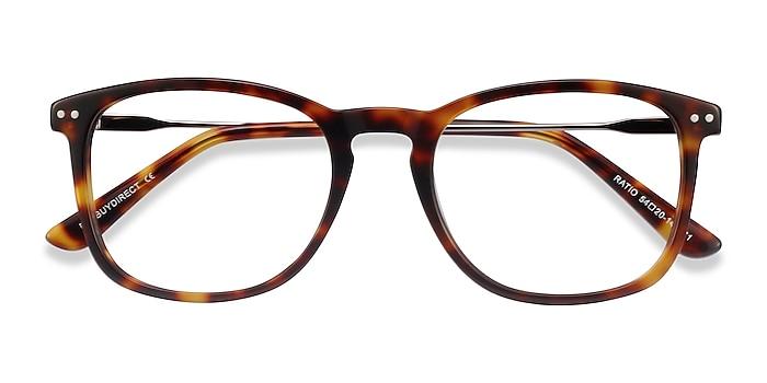 Tortoise Ratio -  Acetate, Metal Eyeglasses