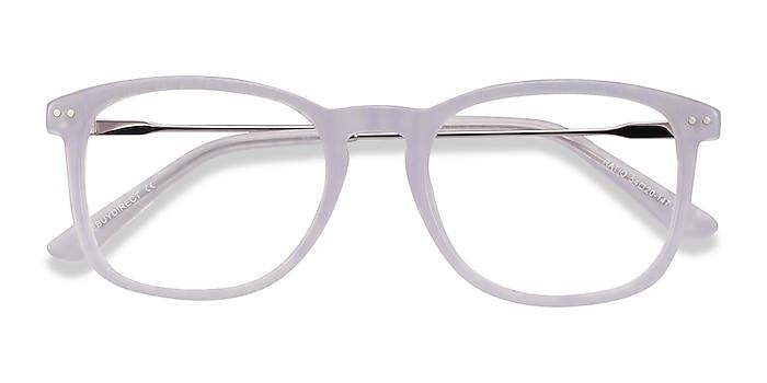 Purple Striped Ratio -  Colorful Acetate, Metal Eyeglasses