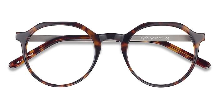 Dark Tortoise The Cycle -  Vintage Acetate, Metal Eyeglasses