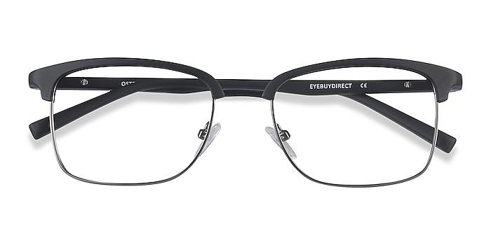 Black Osten -  Lightweight Plastic, Metal Eyeglasses