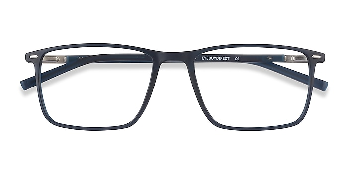 Navy Simon -  Lightweight Plastic, Metal Eyeglasses